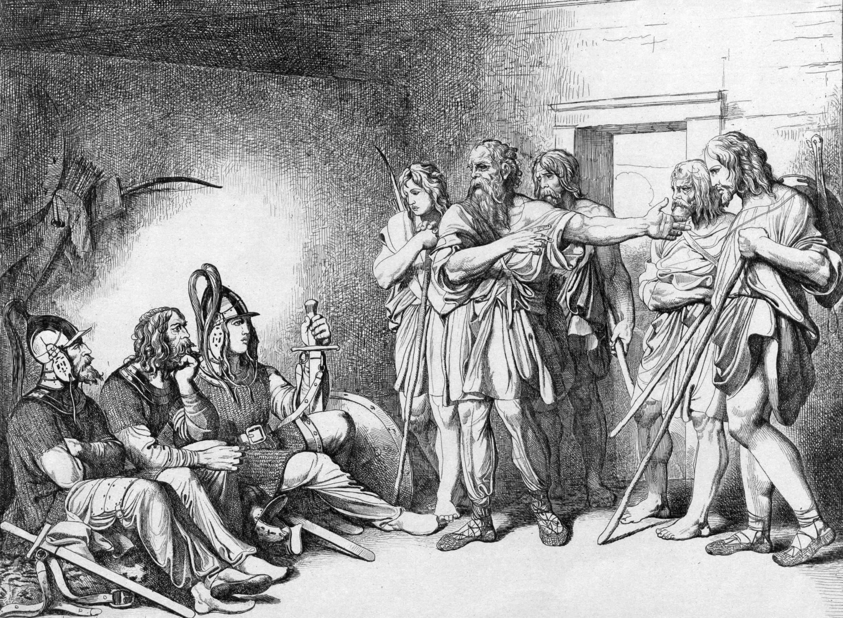 Призвание варягов. Ф. А. Бруни, 1839