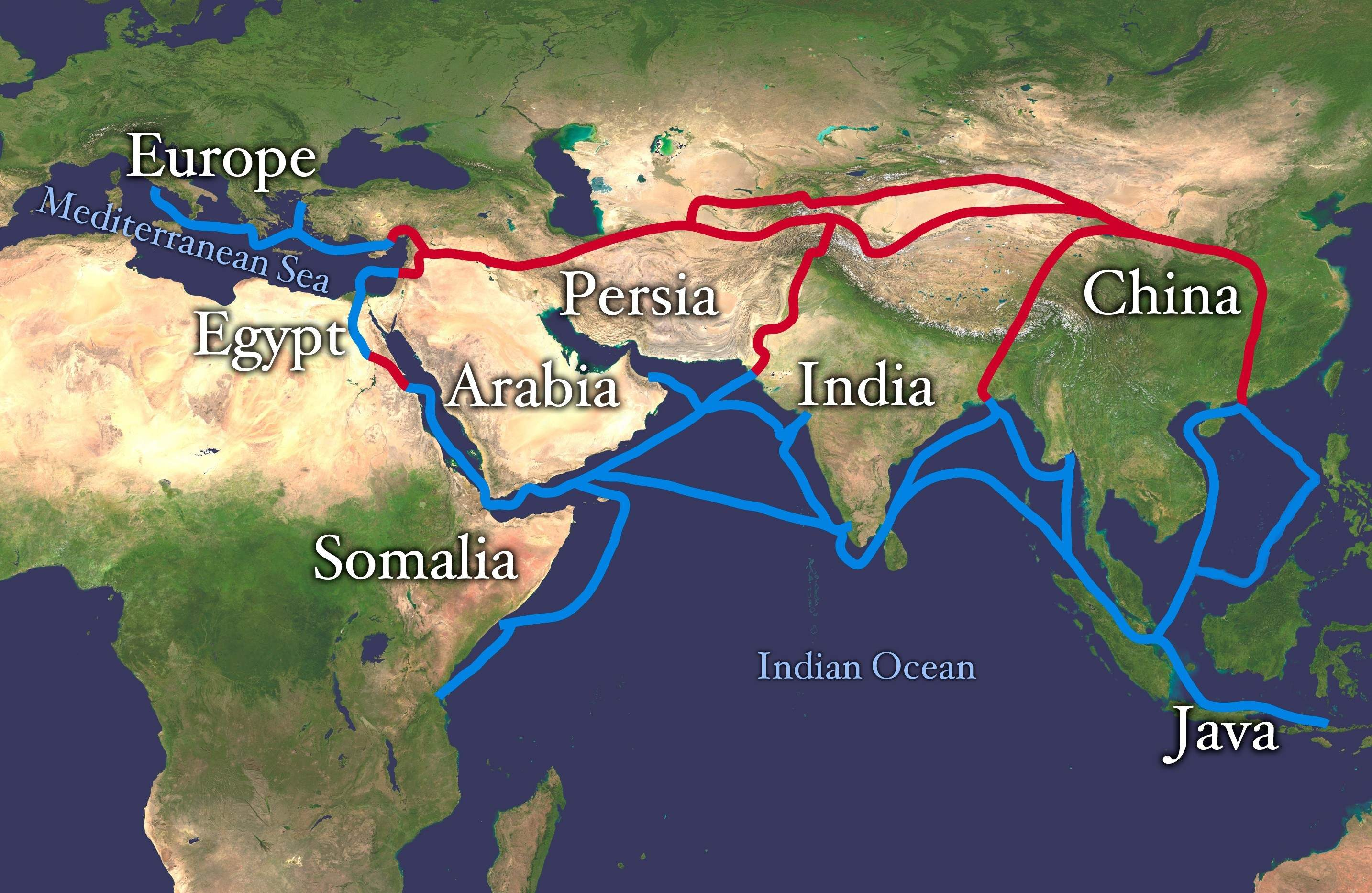 a comparison of the eastern market and the silk road