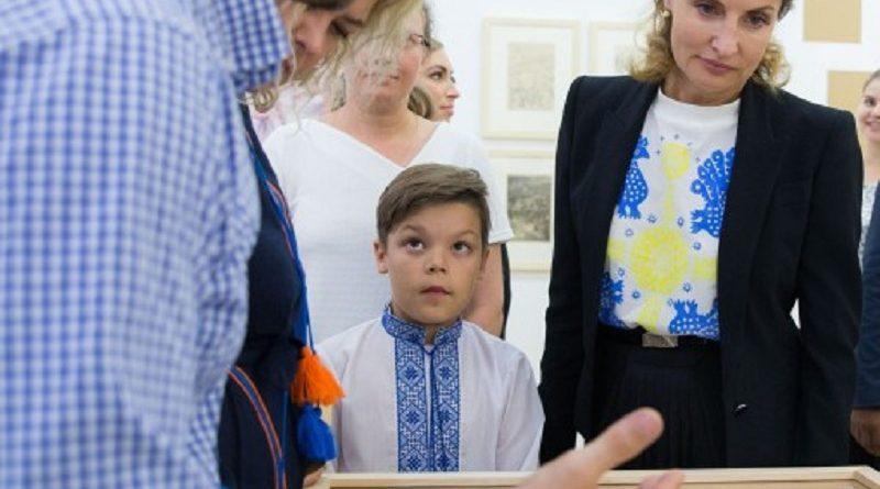 У рамках святкування Дня Незалежності України Марина Порошенко відкрила виставку «Проект Енеїда. Візуальна історія легендарної поеми» (фото)