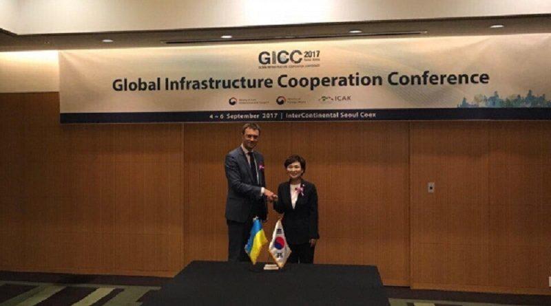 Володимир Омелян зустрівся із Міністром транспорту та інфраструктури Республіки Корея