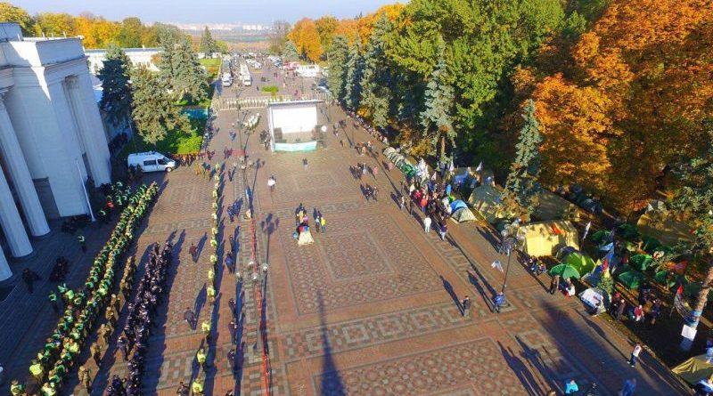 Ситуація в центрі Києва залишається контрольованою (фото)