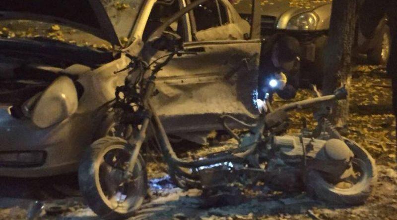 Внаслідок вибуху автомобіля у Солом'янському районі постраждало двоє осіб (фото, відео)