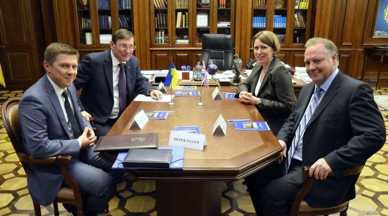 Генпрокурор України зустрівся з Послом Сполученого Королівства Великої Британії та Північної Ірландії в Україні
