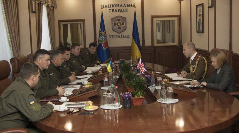 Військовий аташе Великої Британії зустрівся з представниками ГУ Нацгвардії України (фото)