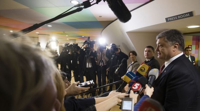 Петро Порошенко поспілкувався з журналістами після зустрічі з Президентом Європейської Ради Дональдом Туском