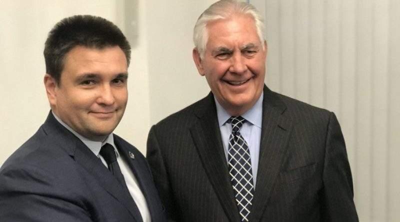 Павло Клімкін зустрівся з Державним секретарем США Рексом Тіллерсоном