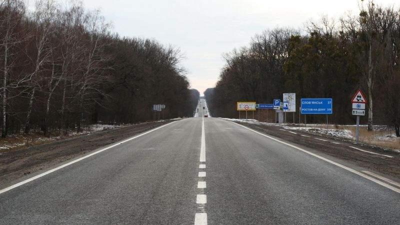 Відновлена повністю зруйнована траса між Харковом і Слов'янськом (фото, відео))