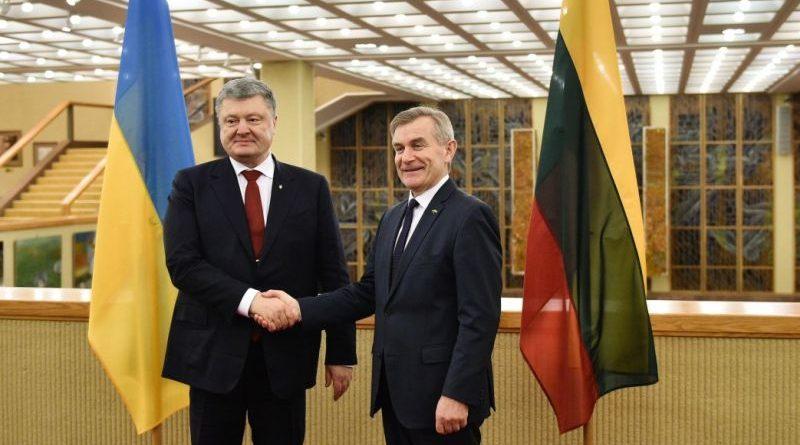 Президент України провів зустріч зі Спікером Сеймаса Литовської Республіки (фото)