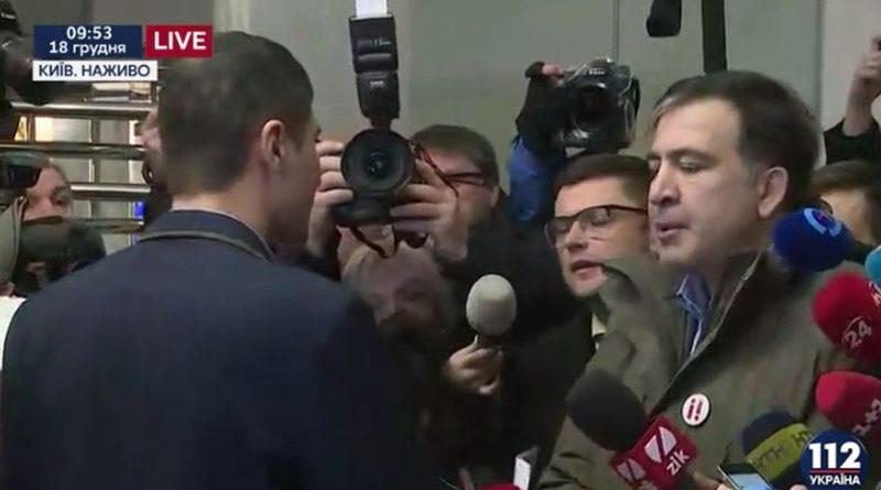 М. Саакашвілі прибув до ГПУ, але відмовився від участі в проведенні слідчих дій (відео)
