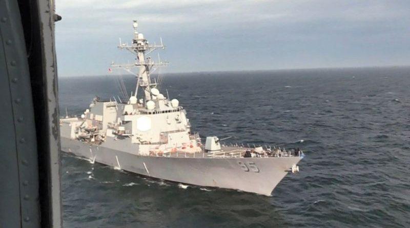 ВМС ЗСУ провели спільні тренування типу PASSEX з есмінцем ВМС США «Джеймс Уільямс» (фото, відео)