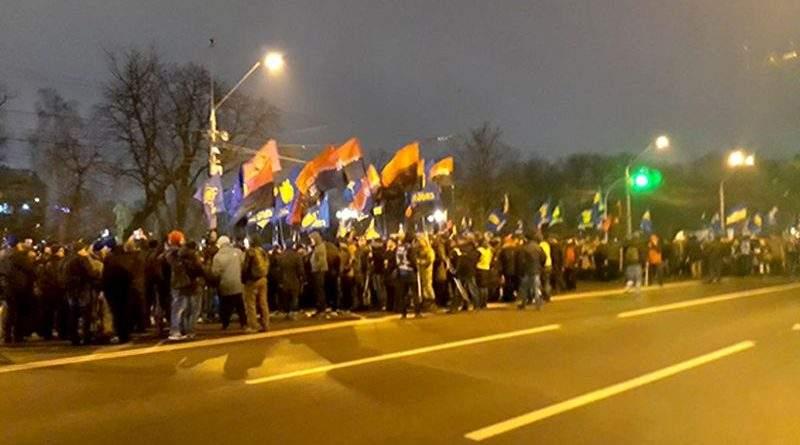 Поліція Києва стежить за порядком під час ходи з нагоди 109-ї річниці від дня народження Степана Бандери (фото, оновлюється)