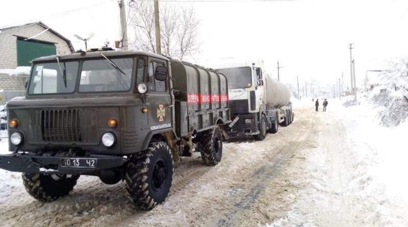 Оперативна інформація щодо наслідків складних погодних умов на території України (станом на 19:00 22 січня)
