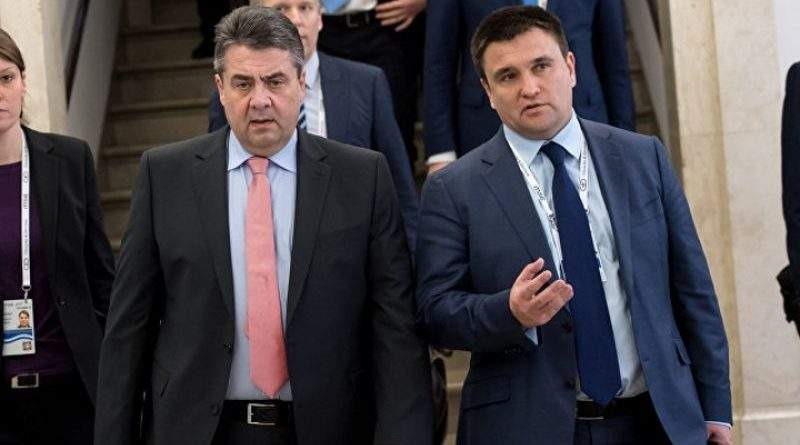 Глава МЗС ФРН Зіґмар Ґабріель перебуває з робочим візитом в Україні