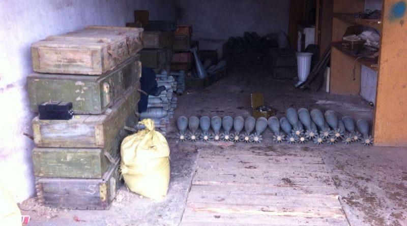 СБУ виявила дві схованки з великою кількістю боєприпасів у районі АТО (фото)