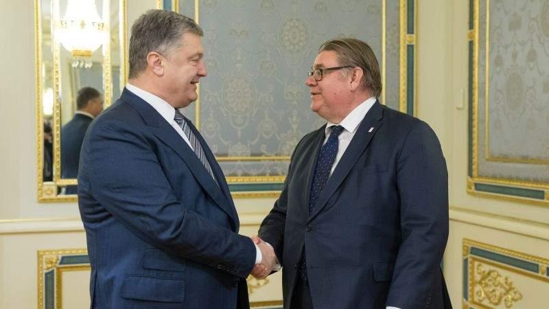Президент України провів зустріч з Міністром закордонних справ Фінляндії