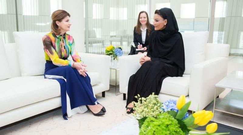 Марина Порошенко під час візиту до Держави Катар (фото)