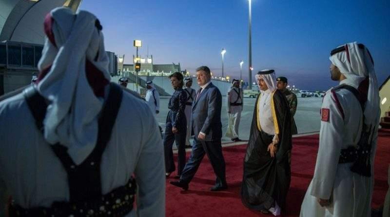 Президент України розпочав офіційний візит до Держави Катар (фото)