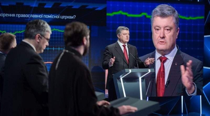 Президент України Петро Порошенко в ефірі «Свободи слова» на ICTV (фото, відео)