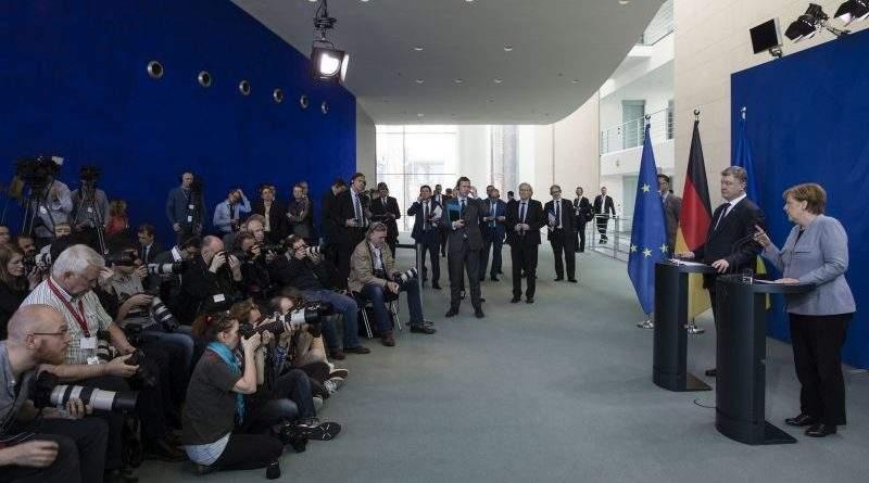 Спільний брифінг Президента України та Канцлера Німеччини за підсумками двосторонніх переговорів (фото)