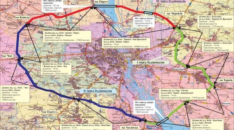 Розглядається три варіанти фінансування будівництва великої кільцевої дороги навколо Києва