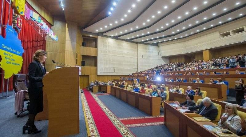 У Запоріжжі Марина Порошенко відкрила конференцію з розвитку інклюзивної освіти (фото)