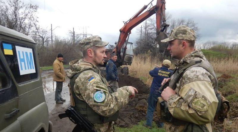 У Донецькій області тривають ремонтні роботи пошкодженої ділянки водогону «Зайцеве-Майорськ» (фото)