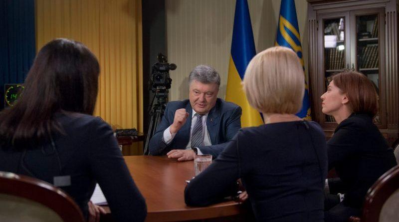 Президент України Петро Порошенко надав інтерв'ю українським телеканалам (фото, відео)
