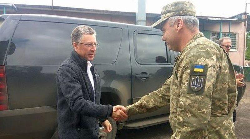 Командувач Об'єднаних сил Сергій Наєв зустрівся зі спецпредставником США в справах України Куртом Волкером