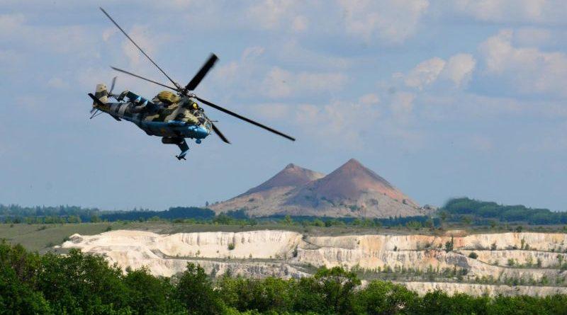 В рамках ООС вперше проведено навчання передових авіаційних навідників екіпажів Мі-24 по наземних цілях (фото, відео)