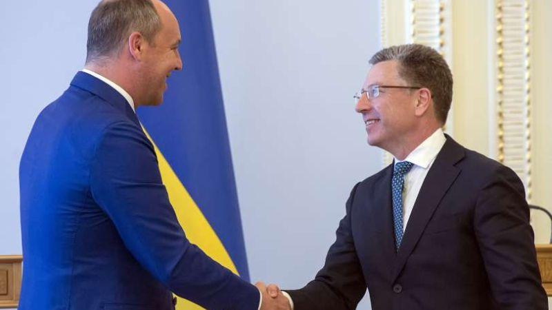 Андрій Парубій подякував Курту Волкеру за надання США летальної оборонної зброї для України (фото)