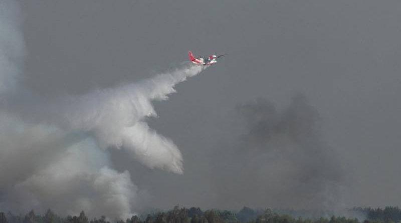 На Чернігівщині вогнеборці ліквідовують загорання лісової підстилки поблизу смт Гончарівське (станом на 16:30)