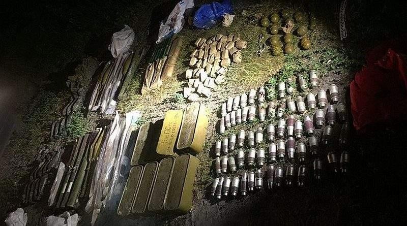 На Київщині СБУ виявила арсенал зброї та боєприпасів (фото, відео)