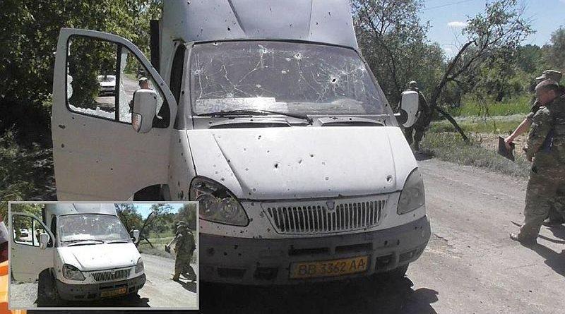 По вчерашнему обстрелу гражданского микроавтобуса в с. Голубовское