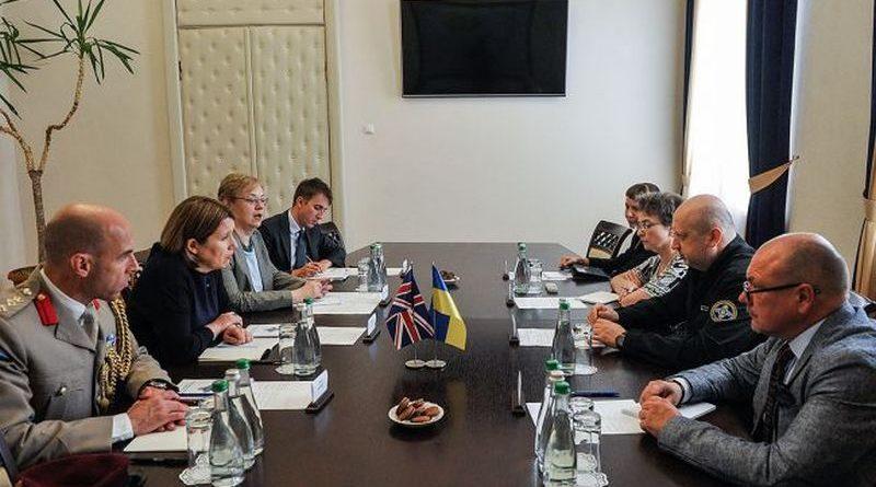Олександр Турчинов провів зустріч з Надзвичайним і Повноважним Послом Великої Британії в Україні Джудіт Гоф (фото)