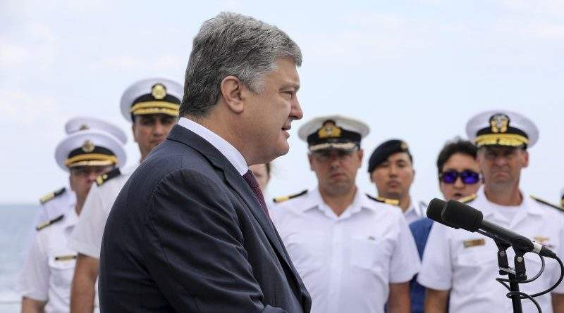 Петро Порошенко інспектував хід багатонаціональних міжнародних навчань «Сі Бриз – 2018» (фото, відео)
