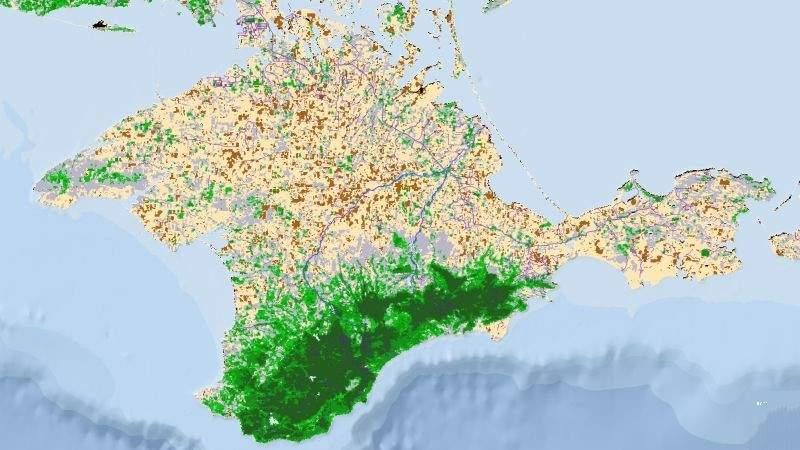 На тимчасово окупованій території АР Крим зафіксовано значне зменшення рослинності (фото)