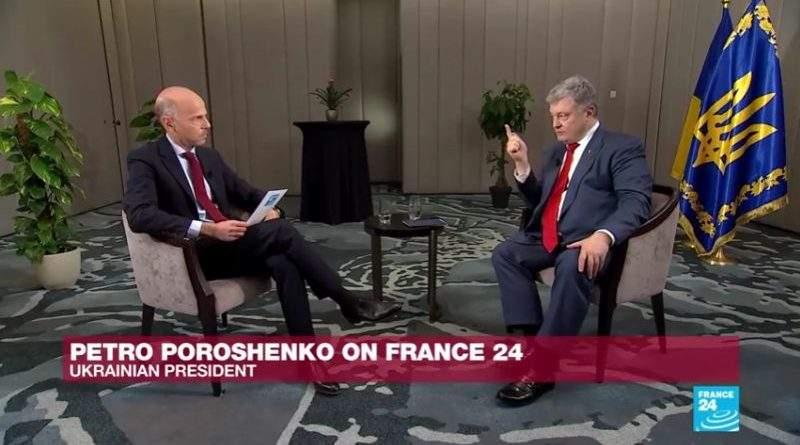 Петро Порошенко дав інтерв'ю телеканалу France 24 (відео)