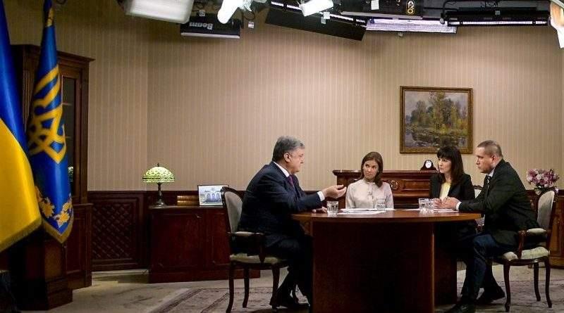 Петро Порошенко дав інтерв'ю українським телеканалам (фото, відео)