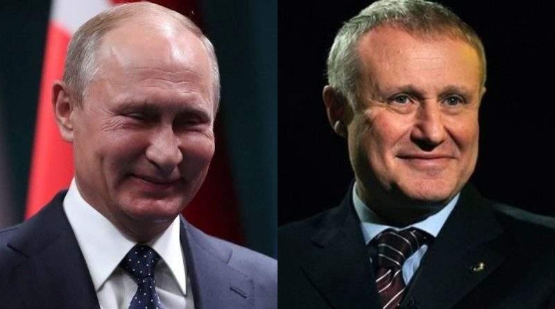 Путін подякував Суркісу