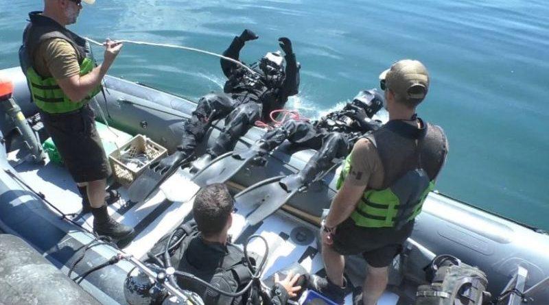 Водолазна підготовка під час багатонаціональних військово-морських навчань «Сі бриз-2018» (відео)