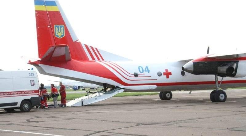Літак ДСНС України транспортував постраждалу Катерину Гандзюк з Херсону до однієї зі столичних лікарень (фото, відео)