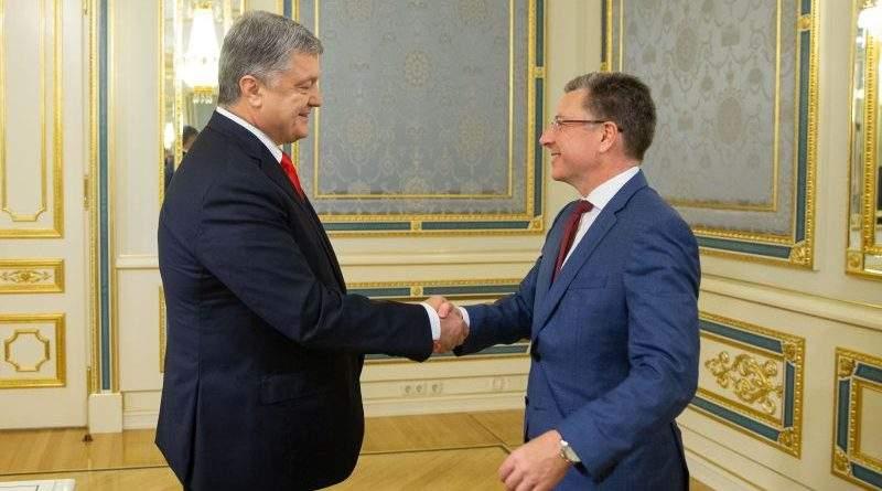 Президент Петро Порошенко провів зустріч зі спецпредставником США Куртом Волкером