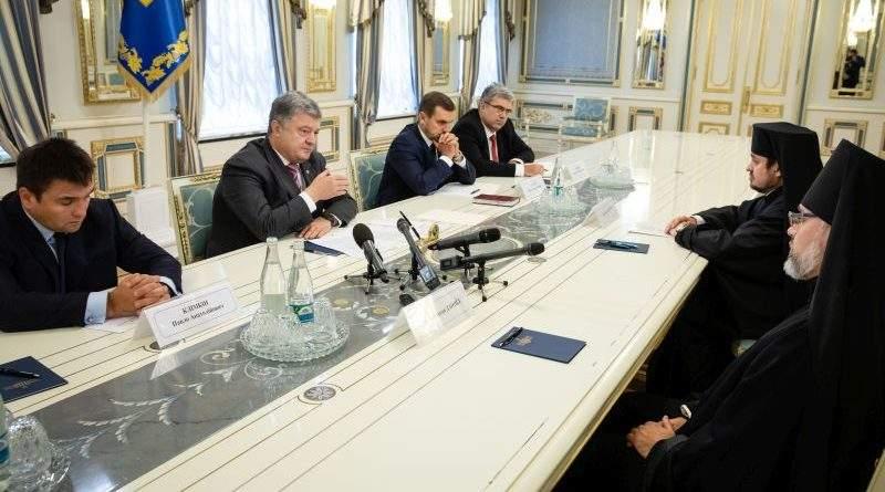 Петро Порошенко прийняв Екзархів Вселенського патріархату в Україні (фото, відео)