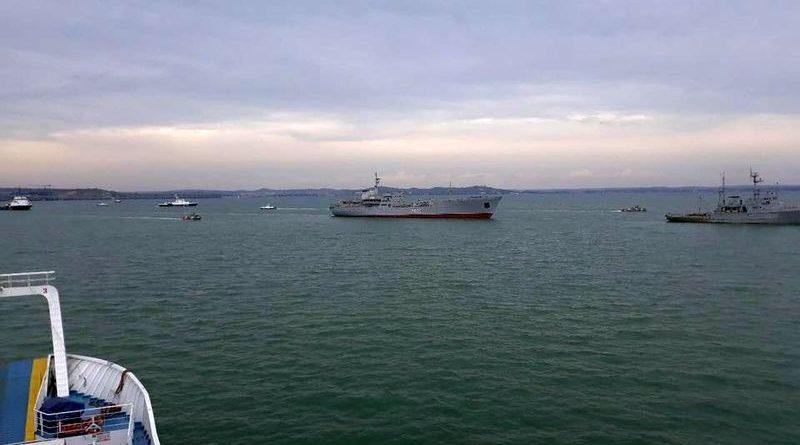 Кораблі ВМС ЗС України увійшли в Азовське море (фото, відео)