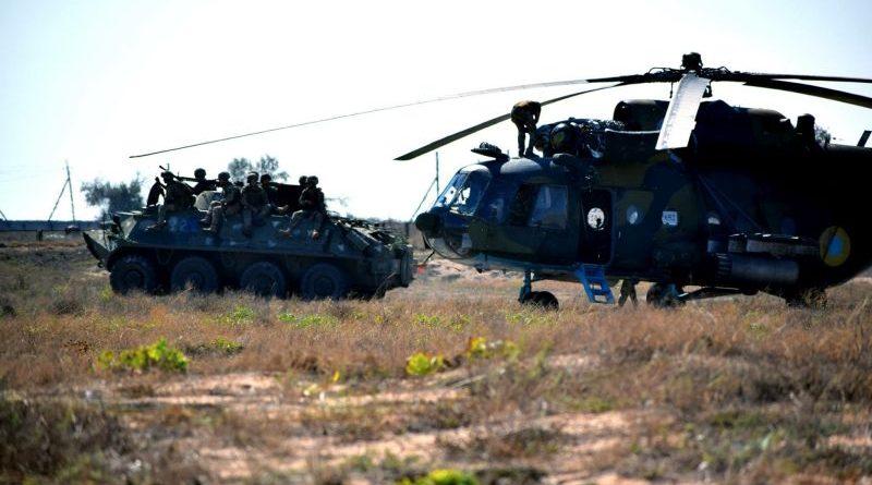 Морська піхота та авіація Сухопутних військ у спільних діях на Азовському узбережжі (фоторепортаж)