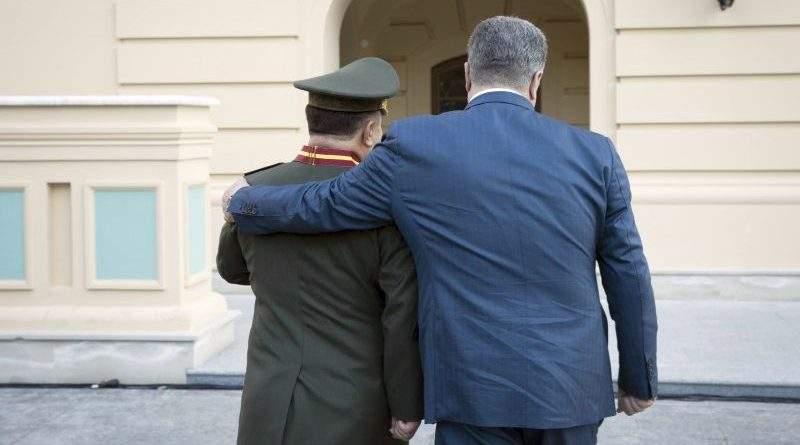 Президент прийняв рапорт Міністра оборони Степана Полторака про звільнення з військової служби (фото, відео)