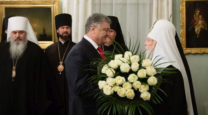 Президент привітав Патріарха Філарета з 23-річчям інтронізації (фото)