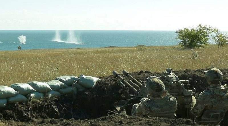 На Приазов'ї проведено навчання з відбиття висадки морського десанту противника на узбережжя (фото, відео)