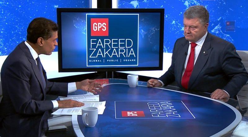 «Thank you Mr. Putin» – Петро Порошенко дав інтерв'ю американському телеканалу СNN