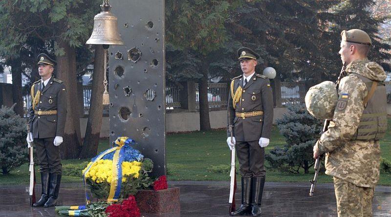 У Залі пам'яті на території Міноборони відбувся ранковий церемоніал поминання українських героїв (фото, відео)